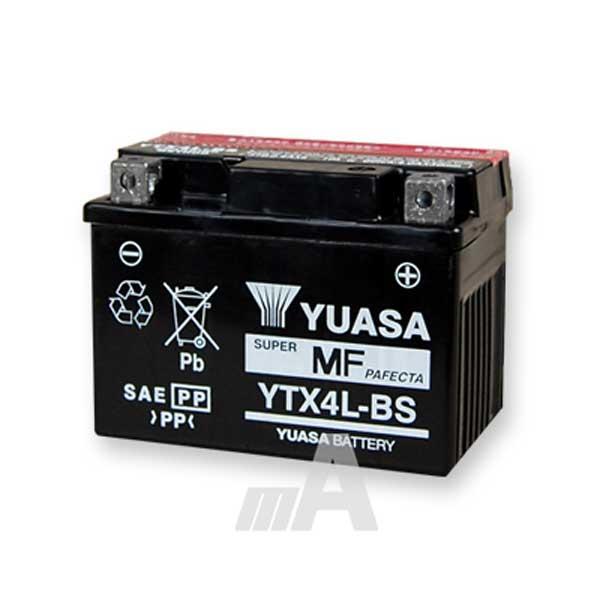 YUASA YTX4L-BS Motorradbatterie 3Ah 50314